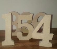 FREE STANDING WOODEN NUMBERS large 15 cm,  large wooden letter, numbers